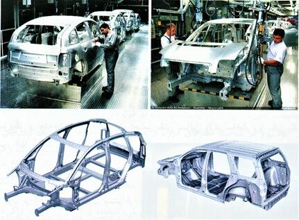 بدنه آلومینیومی خودرو Audi A2